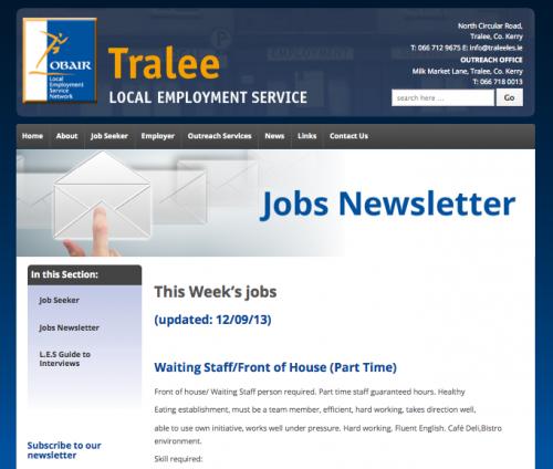 Tralee LES Newsletter