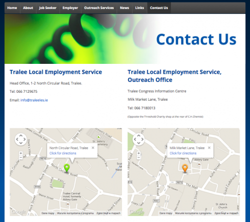 Tralee LES Contact page