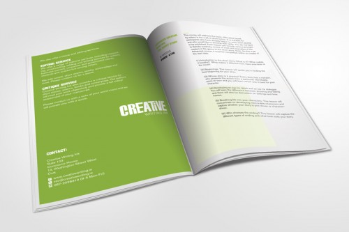 Creative Writing Brochure